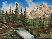 Mountain Meadow Crossing Print by G Kutil