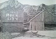Tennessee Drawings Originals - Mountain Memories by Tony Clark