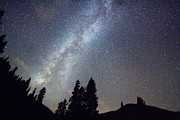 Stary Sky Posters - Mountain Milky Way Stary Night View Poster by James Bo Insogna