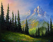 Mountain Morning Print by C Steele