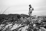 Black And White Photo Prints - Mountain Nymph Print by Joe Kozlowski
