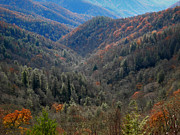 Fall Photos Prints - Mountain Pass Print by Skip Willits