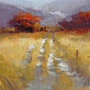Mountain Snow Landscape Paintings - Mountain Path by Richard Robinson
