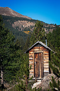 Ghost Town Outhouse Prints - Mountain Privy Print by Julie Magers Soulen