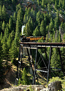Wayne Oberparleiter Metal Prints - Mountain Railroad Metal Print by Wayne Oberparleiter
