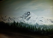 Erik Coryell Paintings - Mountain Range by Erik Coryell