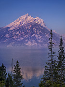 Calm Water Reflection Photos - Mountain Reflection by Andrew Soundarajan