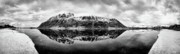 Panoramic Prints - Mountain Reflection Print by David Bowman