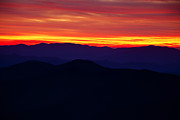 Smoky Mountains Posters - Mountain Ridges after Sunset Poster by Andrew Soundarajan
