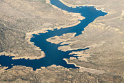 Mountain River From The Air Print by Darleen Stry