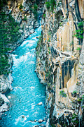 Ganga Photos - Mountain river Ganga in Himalayas India by Raimond Klavins