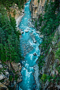 Ganga Photos - Mountain river Ganga in valley Himalayas India by Raimond Klavins