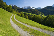 European Alps Framed Prints - Mountain Road Framed Print by Chevy Fleet
