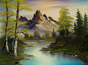 Mountain Pine Tree Painting Framed Prints - Mountain Splendor Framed Print by C Steele