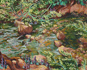Collier Originals - Mountain Stream and Wild Willows by Joy Collier