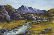 Mountain Stream Paintings - Mountain Stream by Darice Machel McGuire