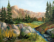 Mountain Stream Print by Dorothy Maier