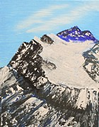 Summit Painting Posters - Mountain Summit Poster by Scott Ashworth