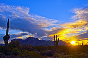 The Superstitions Prints - Mountain Sun Print by Brian Lambert
