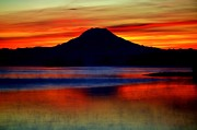 Bright Colors Metal Prints - Mountain Sunrise Metal Print by Benjamin Yeager