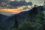 Gatlinburg Tennessee Posters - Mountain Sunset Poster by Coby Cooper