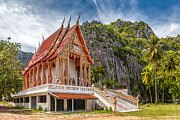 Thai Prints - Mountain Temple Print by Adrian Evans