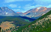 Rocky Mountain National Park Greeting Cards Posters - Mountain Top Color Poster by Kathleen Struckle