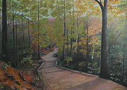 Depicting Paintings - Mountain trail by Al Hunter