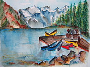 Canoe Originals - Mountain Vacation by Elaine Duras