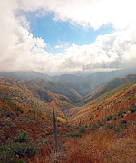 Fall Photo Metal Prints - Mountain Valley Metal Print by Gilbert Artiaga