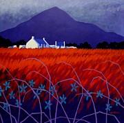 Purple Decorative Art Art - Mountain View  by John  Nolan