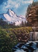 Mountain Views Print by Lee Bowman