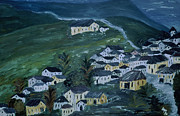 Inge Lewis Prints - Mountain village Print by Inge Lewis