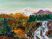 Williams Drawings Prints - Mountain Water Print by Mary Carol Williams