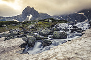 Mountain Art Photos - Mountain waterfall by Lyubomir Kanelov