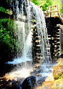 Grist Mills Photos - Mountain Waters by Karen Wiles