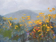 Mountain Biking Paintings - Mountain Wildflowers by Kent Pace