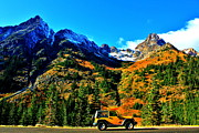 Jeep Framed Prints - Mountain Wrangler Framed Print by Benjamin Yeager