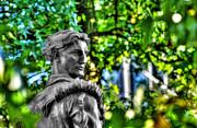Dan Friend - Mountaineer statue in trees