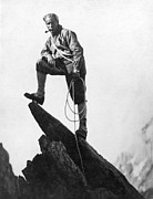 Resolve Framed Prints - Mountaineer Takes A Break Framed Print by Underwood Archives
