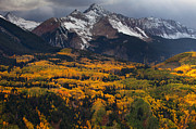 Colorado Landscape Posters - Mountainous Storm Poster by Darren  White