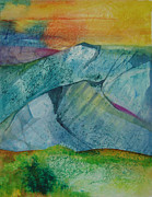 Featured Mixed Media Originals - Mountains 2 by Karen Coggeshall