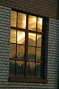 Fort Collins Art - Mountains and Sun in Window by Emily Clingman