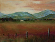 Farm Pastels - Mountains of Virginia by Marion Derrett