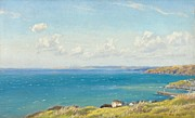 Cornwall Framed Prints - Mounts Bay c1899 Framed Print by Arthur Hughes
