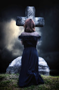 Black Widow Photo Posters - Mourning Poster by Joana Kruse