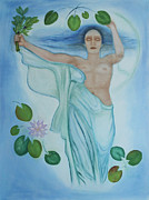 Goddess Birth Art Prints - Mourning Victory Submerged Print by Diana Perfect