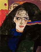 Schiele Art - Mourning Woman by Pg Reproductions