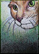 Domestic Pets Mixed Media - Mouse Beware by M C Sturman