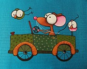 Lucia Stewart - Mouse takes his new car...
